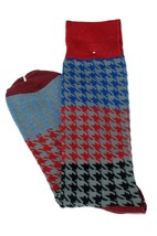 Lord R Colton Men's Red Gray & Blue Check Dress Socks - $28 Retail - New - $13.49