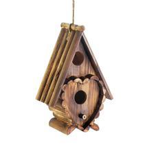 #10018410 *Heart Shape Rustic Wood Birdhouse* - £15.45 GBP