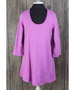 CMC Color Me Cotton Tunic Top S M size Pink Casual Shirt Womens Blouse P... - $26.72