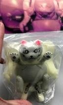 2-Sided Handpainted GID (Glow in Dark) Mecha Cat - Mint in Bag image 2