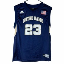 Notre Dame Fighting Irish Adidas Boys Jersey Navy Blue Crew Neck Sleevel... - $29.71