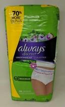 Always Discreet Incontinence 26 ct. Underwear for Women Maximum Classic XL!  B23 - $19.79