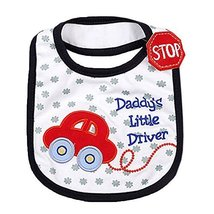 Lovely Dad's Driver Cotton/PVC Adjustable Waterproof Baby Bib Pocket Bib 612""