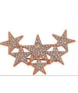 Star Brooch Rose tone Austrian Crystal 2 inches wide   CHRISTMAS  - $22.65