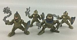 Fisher Price Great Adventures Castle Golden Knight Figures 4pc Lot Vintage 1994 - $29.36