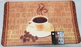 """ANTI-FATIGUE NON SLIP FLOOR MAT (18""""x30"""") PVC,HOT COFFEE CUP & BEANS,Mas... - $24.74"""