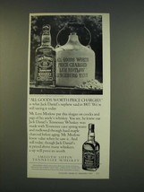 1990 Jack Daniels Whiskey Ad - All goods worth price charged - $14.99