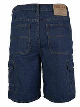Men's Premium Cotton Multi Pocket Relaxed Fit Stonewash Denim Jean Cargo Shorts image 5