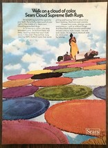1973 Sears Cloud Supreme Bath Rugs Print Ad Walk on a Cloud of Color - $11.69