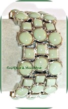 Classy Lia Sophia MINT CONDITION stretch bracelet sea foam mint green RV... - $28.66