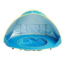 papasgjx Baby Outdoor Easy Pop Up Beach Tent Portable Shade Pool UV Prot... - $38.24