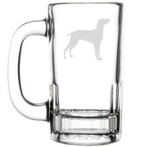 12oz Beer Mug Stein Glass Weimaraner Dog - $12.86