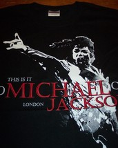 MICHAEL JACKSON THIS IS IT  LONDON T-shirt MEDIUM NEW - $19.80