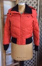 Puma Snow Ski Down Coat Puffer Jacket TOMATO-RED Orange Fall Winter Women Small - $82.07