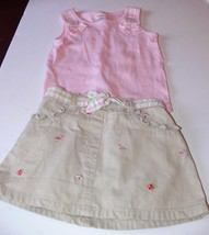 Gymboree Outfit Flamingo Skirt Skort & Pink Tank Top Girls Size 2T ek - $10.00