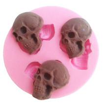 Crâne S Trio Silicone Gâteau Fondant Moule Chocolat Cuisson Artisanat co... - $5.21