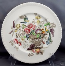 "Johnson Brothers Bird of Paradise Dinner Plate 10"" Multi-Colored Transferware - $10.83"