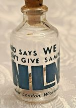 """1965 COPPER LINCOLN PENNY IN GLASS BOTTLE   """"WHO SAYS WE DONT GIVE OUT SAMPLES"""" image 5"""