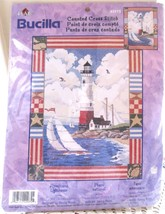 Bucilla Americana Lighthouse Counted Cross Stitch Kit #42975 New Factory Sealed - $14.00