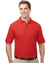 Tri-Mountain Endurance 107 Waffle Knit Golf Shirt - Red - $20.65+