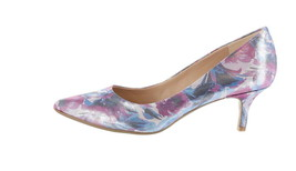 Isaac Mizrahi Floral Printed Pumps Purple 12M NEW A303057 - $85.12