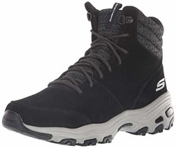 Skechers Women's D'Lites-Short Lace Up Bootie with Puffy Collar (8.5|Black) - $77.44