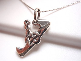 "Celtic Style Letter ""Y"" Necklace 925 Sterling Silver Corona Sun Jewelry y - $17.81"