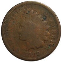 1869 One Cent Indian Head Penny Coin Lot# EA 334