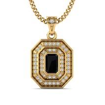 1Ct Black & White Diamond Fashion Pendant 14K Yellow Gold Over Sterling ... - $90.99