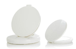 Flip 'N Beauty Folding LED Beauty Mirror Set of 2, Pearl White - $27.71