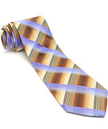NEW TED BAKER 58L Brown Purple Plaid Hand Tailored Silk Mens Neck Tie - $89.10
