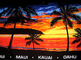 NEW Hawaiian Hawaii Design Beach / Pool / Bath Towel 60 x 31 ~ SUNSET BEACH - $22.76