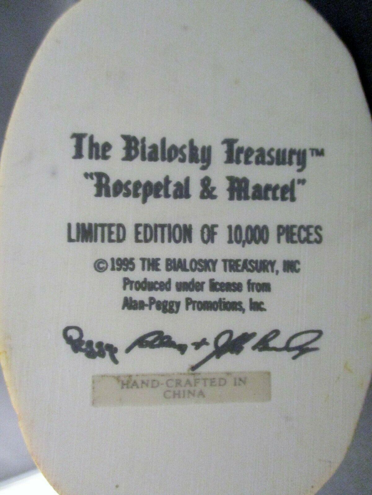 "The Bialosky Treasury ""Rosepetal and Marcel"" Figurine 1995 image 8"