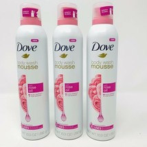 3x Dove Body Wash Mousse With Rose Oil for Shower or Shaving Concentrated - $24.55