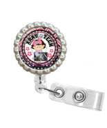 Pink Little Girl X-Ray Tech Retractable Reel ID Name Tag Badge Holder 1.12 - $10.00