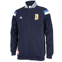 NWT New Denver Nuggets adidas Navy On Court Warm-Up Full Zip Size Small ... - $79.15