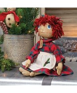 Country MERRILY HOLIDAY  DOLL Primitive Farmhouse Winter Christmas - £45.96 GBP