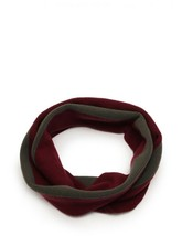 Hermes snood scarf knit cashmere Bordeaux gray Auth - $724.59