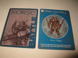 2003 Age of Mythology Board Game Piece: Norse Battle Card: Mythic Hero  - $1.00