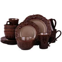 Elama's Salia 16 Piece Stoneware Dinnerware Set - $83.76