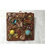 Plaque Wall Door Art Handmade Polymer Clay Wall Decor OOAK Woodland Fore... - $45.00