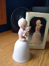 1980 Precious Moments Jesus Loves Me Bell - $12.00