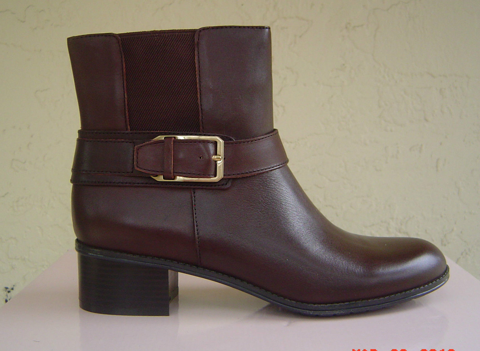 Primary image for NEW BANDOLINO BROWN LEATHER ANKLE BOOTS SIZE 7.5 M