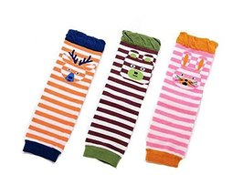 Baby Cotton Socks Baby Leggings Comfy Leg Guards,3 Sets£¨Stripe 2)