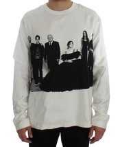 Dolce & Gabbana DG FAMILY Print Crewneck Silk Sweater - $218.30