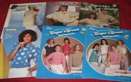 6 Vtg Crochet Books Pamphlets Sweaters Shells Vests 1980s - $14.84