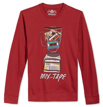 NEW MENS AMERICAN RAG MIX TAPE GRAPHIC DARK SCARLET RED SWEATSHIRT - $13.99
