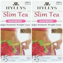 Hyleys 100% Natural Slim Green Tea Raspberry 25 Teabags (2 PACK) - $12.99