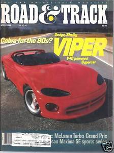 Primary image for Road & Track  Magazine  April  1989