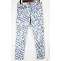 Gap Womens Jeans 27 4 Always Skinny 1969 Low Rise Acid Washed Polka Dot ... - $20.99